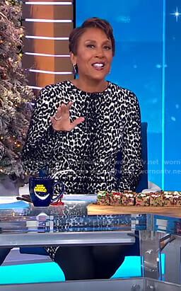 Robin's white leopard dress on Good Morning America