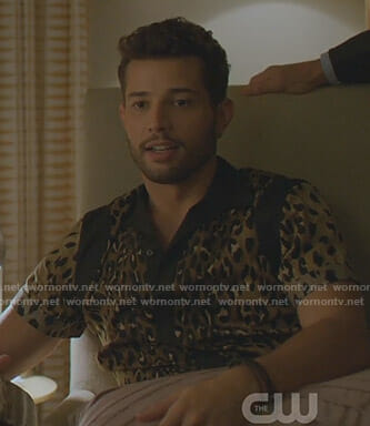 Sam's leopard short sleeve shirt on Dynasty