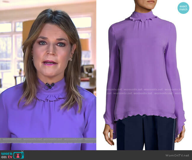 Silk Mockneck Top by Derek Lam worn by Savannah Guthrie  on Today