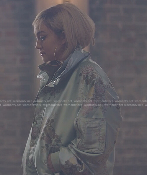 Star's floral print bomber jacket on Star