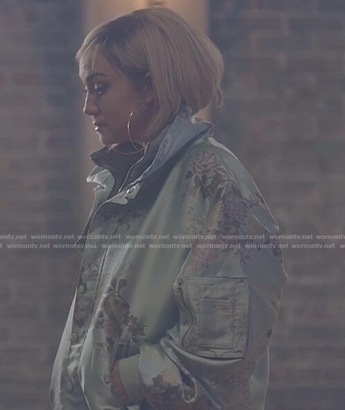 Star's floral print bomber jacket on Star