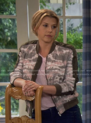 Stephanie's tie dye print bomber jacket on Fuller House
