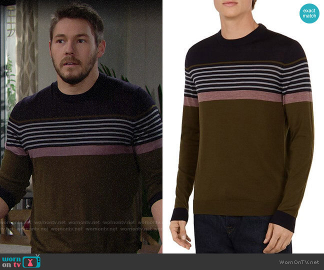Ted Baker Giantbu Striped Crewneck Sweater