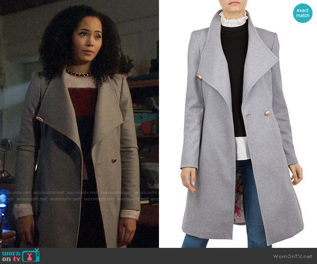 Ted Baker Sandra Coat worn by Macy Vaughn (Madeleine Mantock) on Charmed