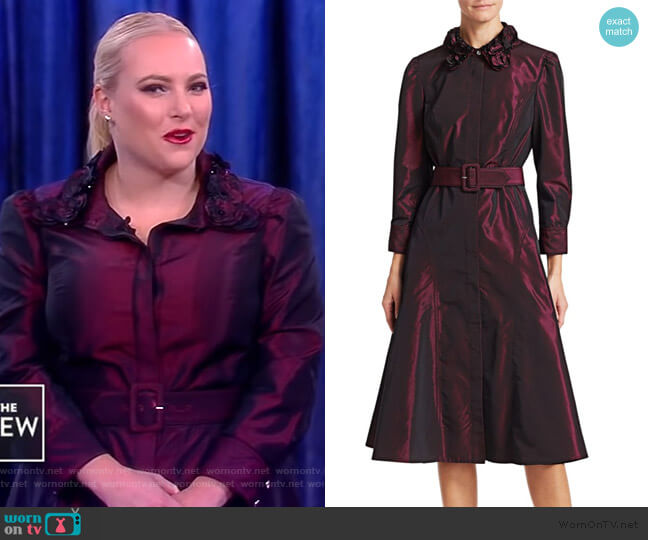 Taffeta  Shirt Dress by Teri John by Rickie Freeman worn by Meghan McCain on The View