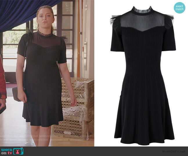 Short Dress by The Kooples worn by Rebecca Bunch (Rachel Bloom) on Crazy Ex-Girlfriend