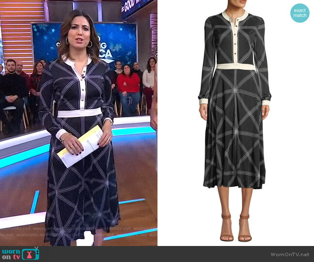 Anja Dress by Tory Burch worn by Cecilia Vega  on Good Morning America