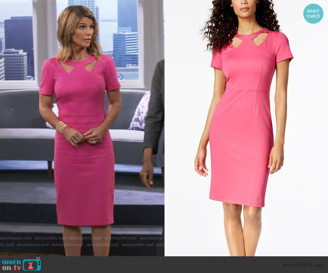 aladium Cutout Sheath Dress by Trina Turk worn by Rebecca Katsopolis (Lori Loughlin) on Fuller House