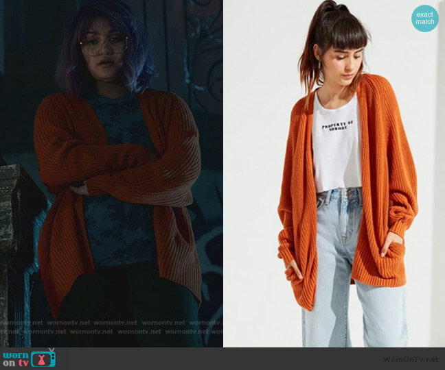 Blake Cardigan by Urban Outfitters worn by Gert Yorkes (Ariela Barer) on Marvels Runaways