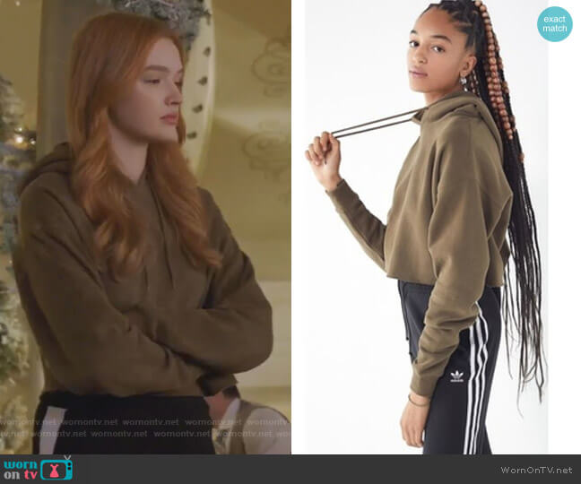 Cropped Hoodie Sweatshirt by Out From Under  worn by Kirby Anders (Maddison Brown) on Dynasty