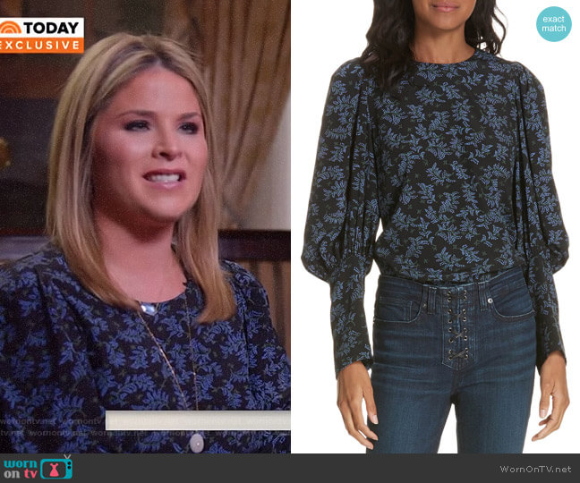 Clarke Top by Veronica Beard worn by Jenna Bush Hager  on Today
