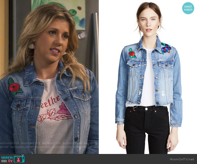 Cara Jean Jacket by Veronica Beard Jean worn by Stephanie Tanner (Jodie Sweetin) on Fuller House