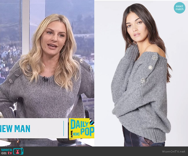 Chase Sweater by Veronica Beard worn by Morgan Stewart  on E! News