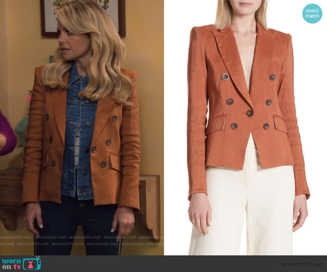 Diego Linen Blend Dickey Jacket by Veronica Beard worn by DJ Tanner-Fuller (Candace Cameron Bure) on Fuller House
