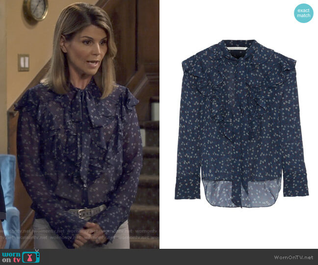 Finley Blouse by Veronica Beard worn by Rebecca Katsopolis (Lori Loughlin) on Fuller House