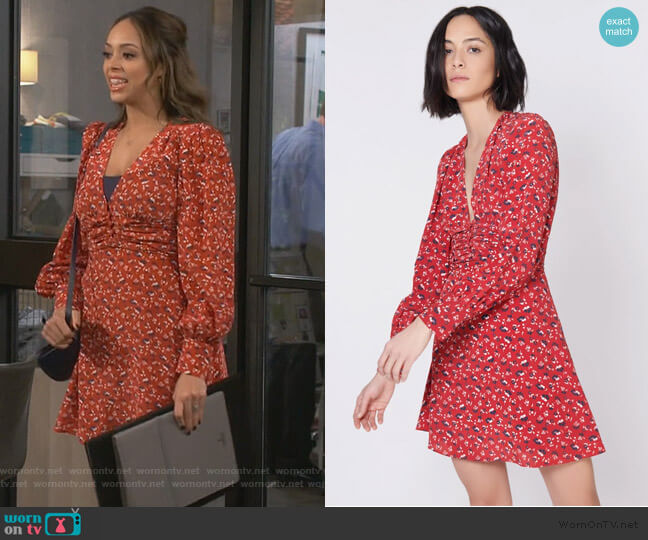 Marion Dress by Veronica Beard worn by Claire (Amber Stevens West) on Happy Together