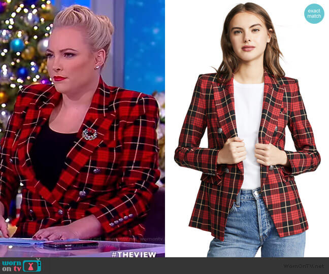 Miller Jacket by Veronica Beard worn by Meghan McCain  on The View