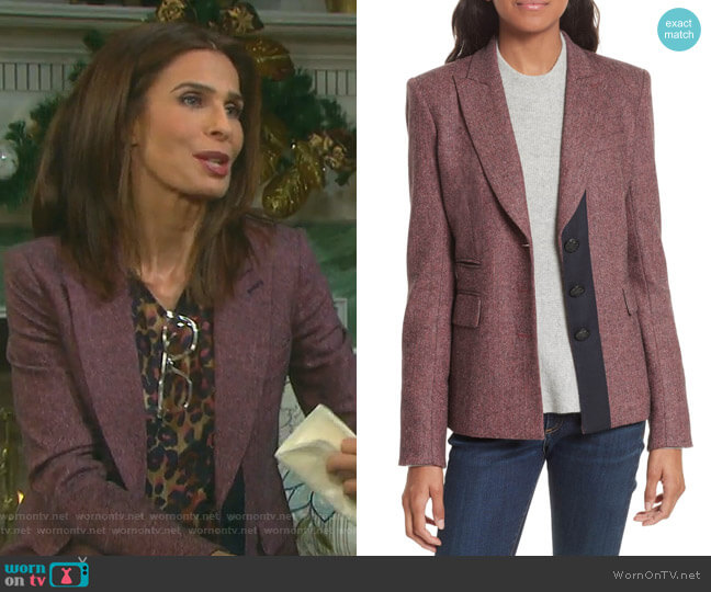Sterling Grosgrain Trim Jacket by Veronica Beard worn by Hope Williams (Kristian Alfonso) on Days of our Lives