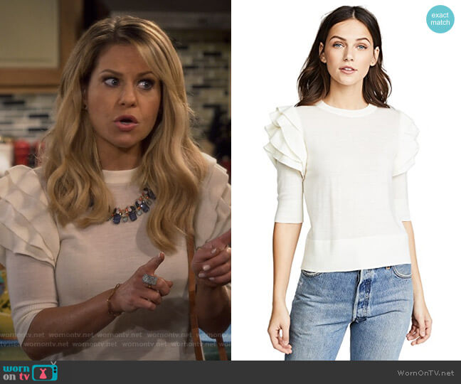 Havyn Sweater by Veronica Beard worn by DJ Tanner-Fuller (Candace Cameron Bure) on Fuller House