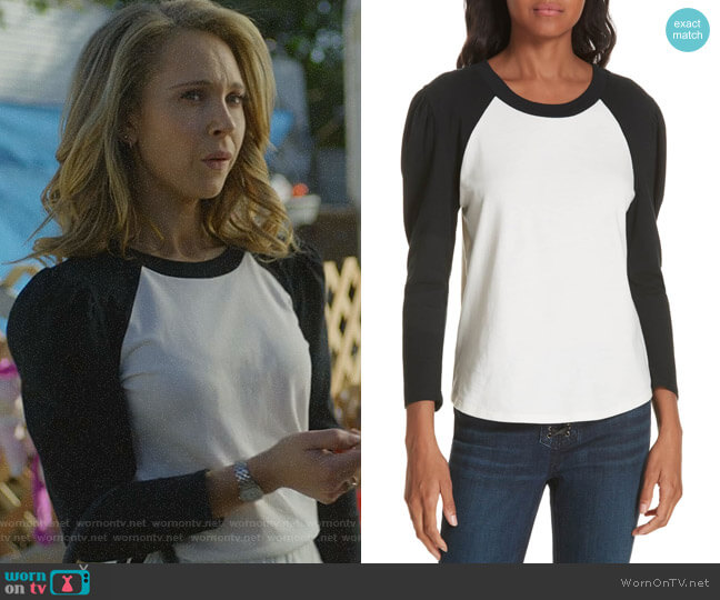 Josey Tee by Veronica Beard worn by Veronica Newell (Juno Temple) on Dirty John
