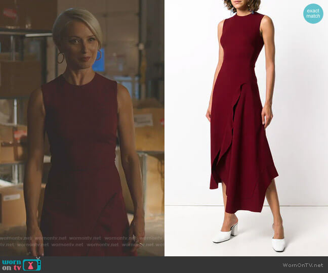 Sleeveless Midi Dress by Victoria Beckham worn by Katherine LaNasa on Dynasty