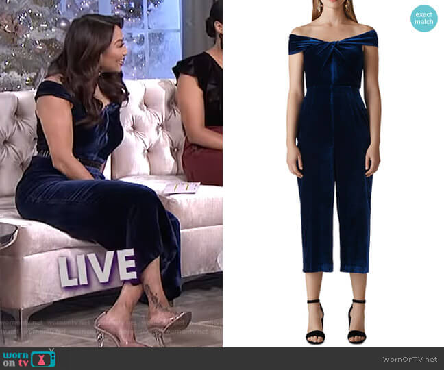 Contanza Jumpsuit by Whistles worn by Jeannie Mai on The Real