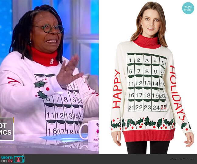 My Holiday Advent Calendar Sweater by Whoopi worn by Whoopi Goldberg  on The View
