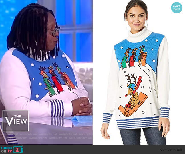 Reindeer Games Sweater by Whoopi worn by Whoopi Goldberg on The View