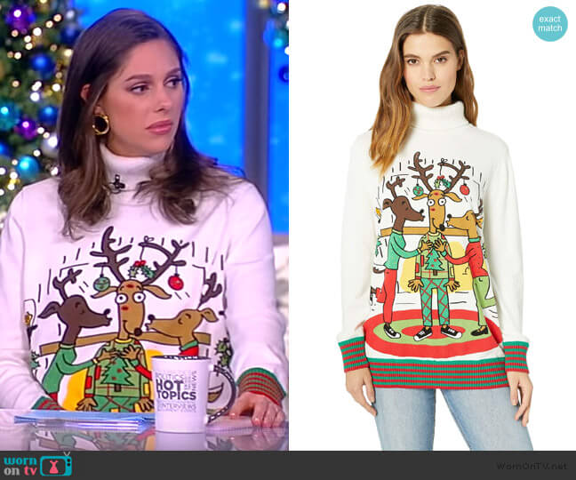 Under The Mistletoe Sweater by Whoopi worn by Abby Huntsman  on The View