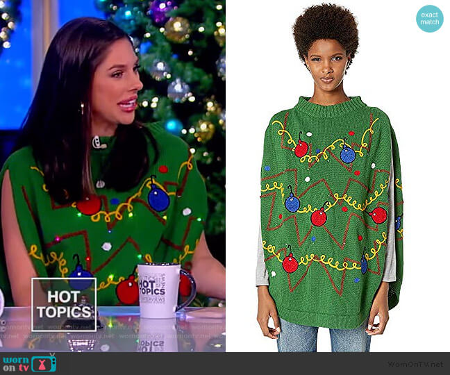 Unisex Christmas Tree Skirt Sweater by Whoopi worn by Abby Huntsman  on The View