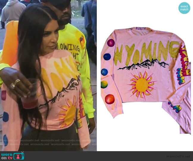 Wyoming Jackson Hole by Yeezy worn by Kim Kardashian  on Keeping Up with the Kardashians