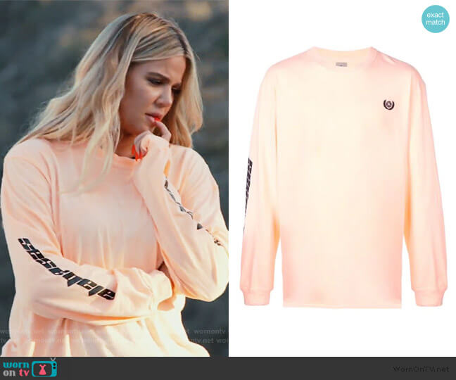 Calabasas Long Sleeve Tee by Yeezy worn by Khloe Kardashian on Keeping Up with the Kardashians