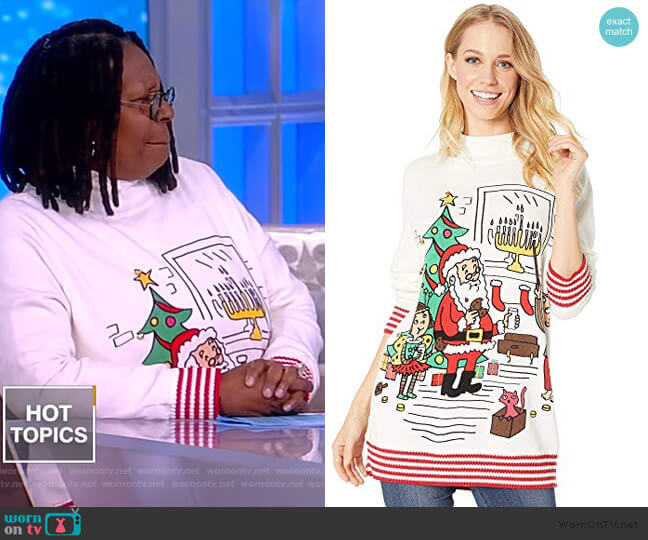 Holidays To All Sweater by Whoopi worn by Whoopi Goldberg  on The View