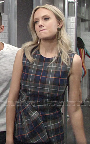 Abby's plaid top on The Young and the Restless