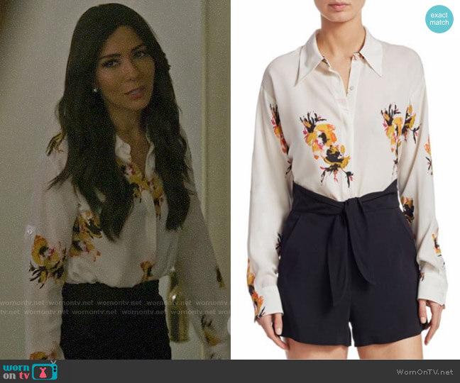 ALC Calder Blouse worn by Hermione Lodge (Marisol Nichols) on Riverdale