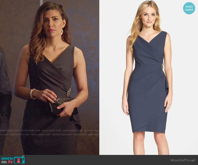 Alex Evenings Ruched Dress worn by Dinah Drake (Juliana Harkavy) on Arrow