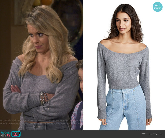 Cropped Pullover Sweater by Alexander Wang worn by DJ Tanner-Fuller (Candace Cameron Bure) on Fuller House