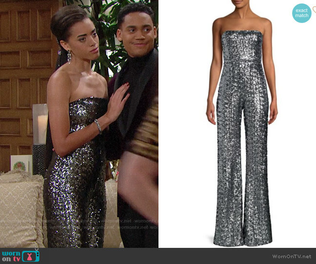 Alexis Carleen Sequin Jumpsuit worn by Zoe (Kiara Barnes) on The Bold & the Beautiful