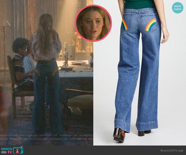 Gorgeous High Rise Jeans by AO.LA by Alice + Olivia worn by Karolina Dean (Virginia Gardner) on Marvels Runaways
