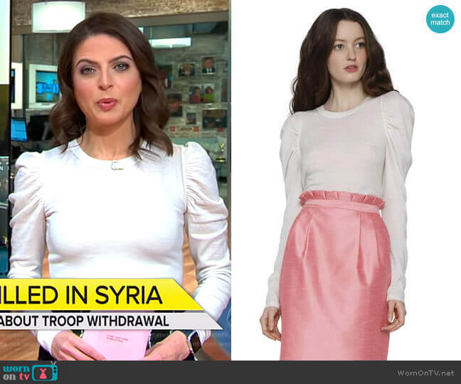Lidia Sweater by Alice + Olivia worn by Bianna Golodryga  on CBS This Morning