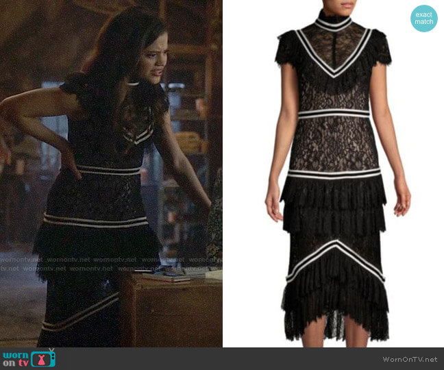 Alice + Olivia Annetta Dress worn by Maggie Vera (Sarah Jeffery) on Charmed