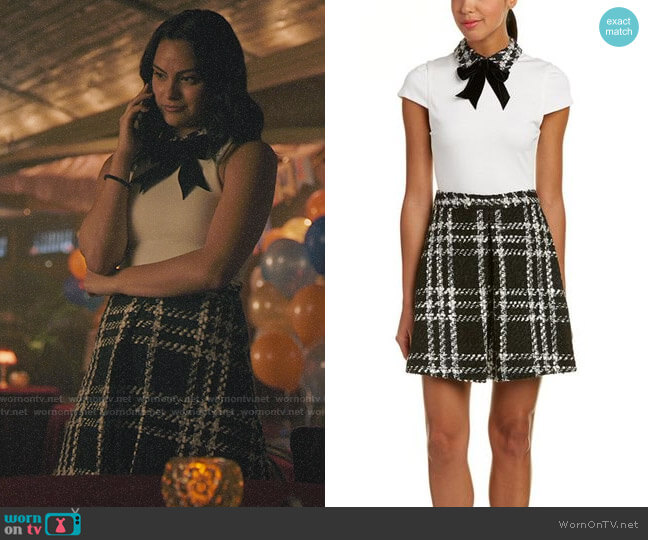 Alice + Olivia Gail Dress worn by Veronica Lodge (Camila Mendes) on Riverdale
