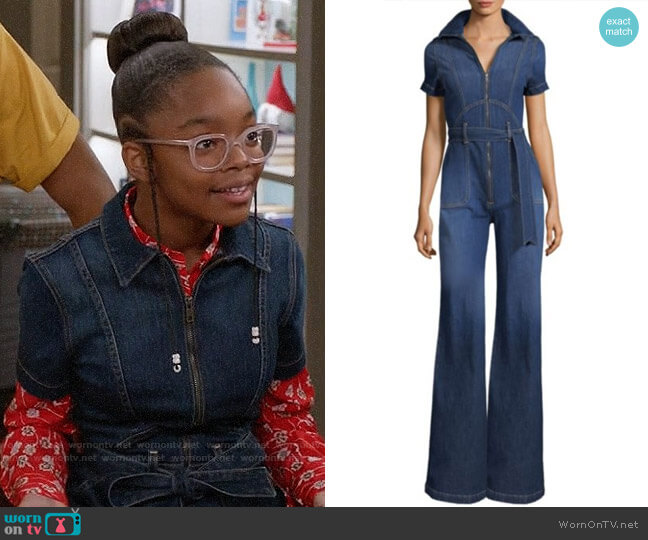 AO.LA by Alice + Olivia Gorgeous Jumpsuit worn by Diane Johnson (Marsai Martin) on Blackish