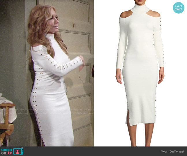 Alice + Olivia Kahlo Dress worn by Tracey Bregman on The Young & the Restless