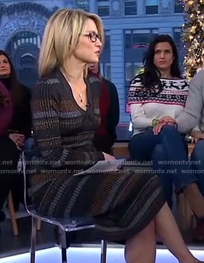 Amy's striped ribbed dress on Good Morning America