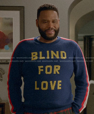 Andre's BLIND FOR LOVE sweater on Black-ish