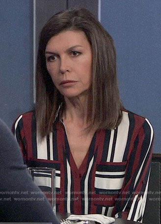 Anna's striped shirt on General Hospital