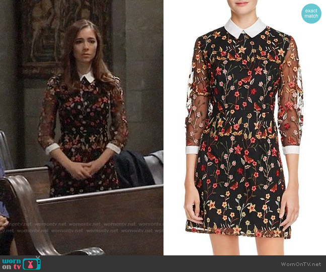 Aqua Embroidered Collared Dress worn by Molly Lansing-Davis (Haley Pullos) on General Hospital
