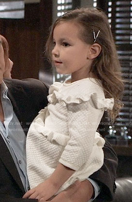 Avery's white ruffled dress on General Hospital