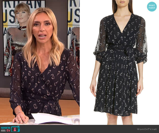 Memory Floral Silk Chiffon Dress by Ba&Sh worn by Giuliana Rancic  on E! News